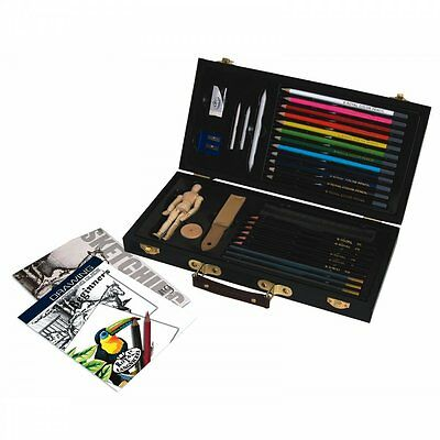 Royal & Langnickel Sketching & Drawing for Beginners Wooden Box Set