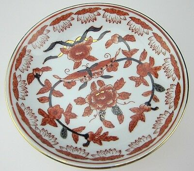 The Ritz-Carlton Hotel dish hand painted in China plate butterfly floral design