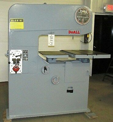 DoAll Contourmatic Vertical Band Saw 36-3 Variable Speed 3 Phase E6~ 18274SO