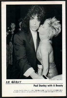 1985 Kiss Paul Stanley & Lisa Hartman JAPAN mag photo pinup / mini poster t005m