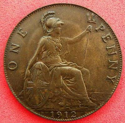 1912H - George V - Penny - UNC with Lovely tone - Scarce - SN8336