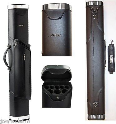 Predator Blak 3x5 Cue Case - C3SY3x5 - Black With Pouch & Chrome Accents