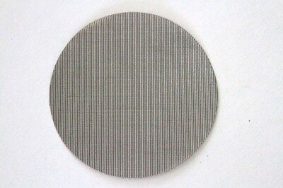 """New Heavy Duty 4"""" Round Plain Dutch Weave Wire Mesh Filter Screen Stainless"""