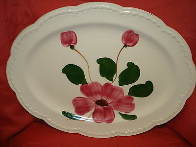Heritage Ware by Stetson Hand Painted Floral Pottery Platter