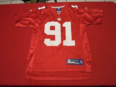 JUSTIN TUCK #91 NEW YORK GIANTS REEBOK JERSEY SIZE YOUTH M NFL FOOTBALL