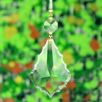Pack of 10 Clear Large Crystal Chandelier Prism Glass Lamp Pendant Part FY6BJx10