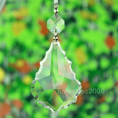Pack of 10 Clear Large Crystal Chandelier Prism Glass Lamp Pendant Part FY6BYx10