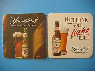 BEER COASTER Bar Mat ~*~ YUENGLING Light ... America's Oldest Brewery Since 1829