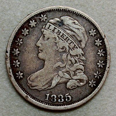 1835 Capped Bust Dime * Excellent Details and Originality