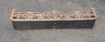 Antique Scottish Fire Fender Patriotic Motif United We Stand Cast Iron Victorian