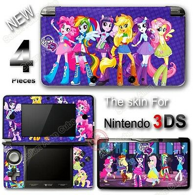 My Little Pony Equestria Girls Adorable SKIN STICKER COVER for Nintendo 3DS