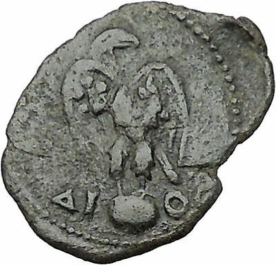 TRAJAN 98AD Nicaea in Bithynia Eagle Globe Authentic Ancient Roman Coin i41500