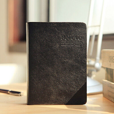Retro Classic Leather Cover Thick Blank Pages Notebook Sketchbook Journal Diary
