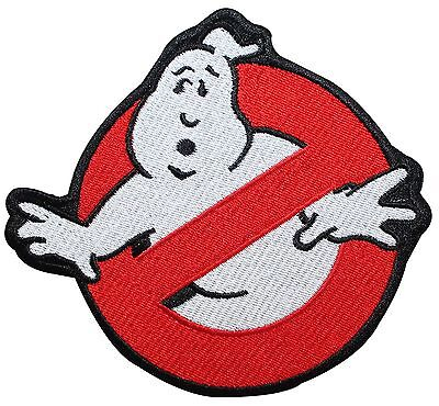 Smaller Ghostbusters No-Ghost Sign Movie Logo Embroidered Iron On Applique Patch