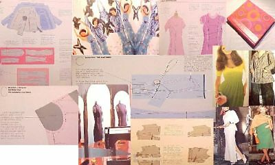 RESTYLE Wrd:Design DRESS costume FASHION colr.drafting MAKING,pattern alteration