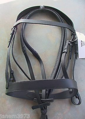Plain Leather Hunter Bridle With Thick Noseband