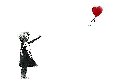 Banksy Balloon Girl Canvas Print Decor, Choose Your Size !!!