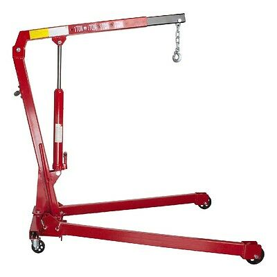 MasterPro Folding Engine Crane Stand Hoist Lift Jack One Tonne 1T 1000kg Garage