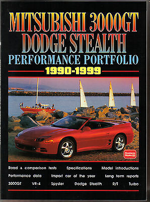Mitsubishi 3000GT Dodge Stealth Performance Portfolio 1990-99 Road Test Book