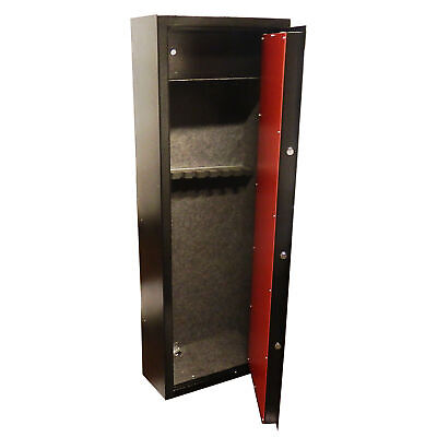 Brand New 8 Gun Cabinet With Built In Ammunition Safe Shotgun Vault Locking Good
