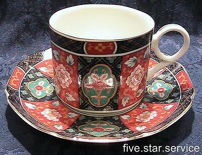 Arita IMARI DYNASTY CUP/s and SAUCER/s SET/s vintage fine china Japan blue gold