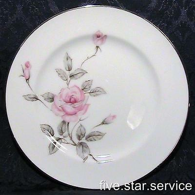 SPRING ROSE/s GARLAND Three Castle BREAD and BUTTER PLATE/s vintage china pink