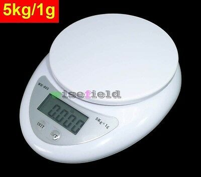 5000g/1g 5kg Digital Kitchen Food Diet Postal Scale Weight Balance Electronic