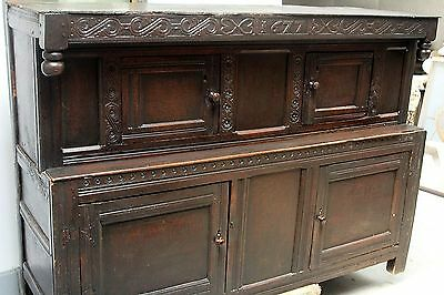 Antique CABINET 17th Century CUPBOARD Dated 1677 English