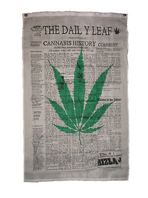 3x5 The Daily Leaf Marijuana Weed Blunt Flag 3'x5' Banner Brass Grommets