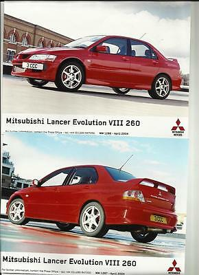 Mitsubishi Lancer Evo Viii Mr 260 Original Press Photos, 'brochure' Connected