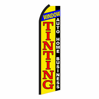 WINDOW TINTING Advertising Flutter Feather Sign Swooper Banner Flag Only