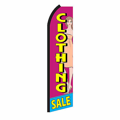 CLOTHING SALE Advertising Sign Swooper Feather Flutter Banner Flag Only