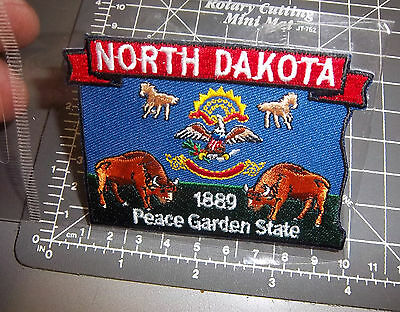 North Dakota Beautiful Embroidered patch, new! 1889 the peace garden state