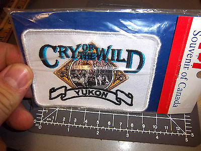 Cry of the Wild, Yukon territory Canada Wolves Beautiful Embroidered patch, new!