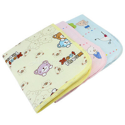 Cute Cotton Baby Infant Bedding Nappy Cover Mat Changing Urine Pad Waterproof