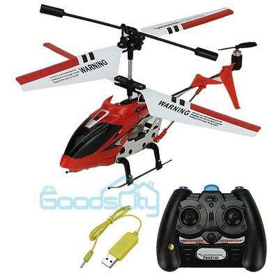 3 Channels Mini Metal Infrared Remote Control RC Helicopter Gyro Genuine US Ship