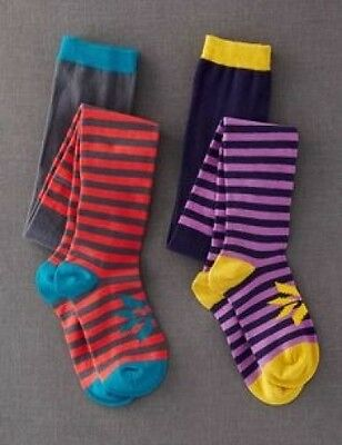 Baby & Girls New ex Mini Boden Stripy Tights -Ages 1.5y-14y -Single Pair-Pattern