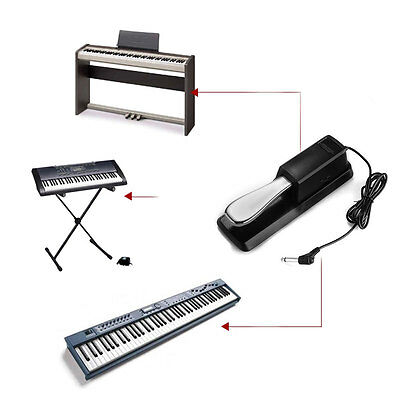 Universal Metal Sustain Pedal Foot Switch for Keyboard Electronic Piano New