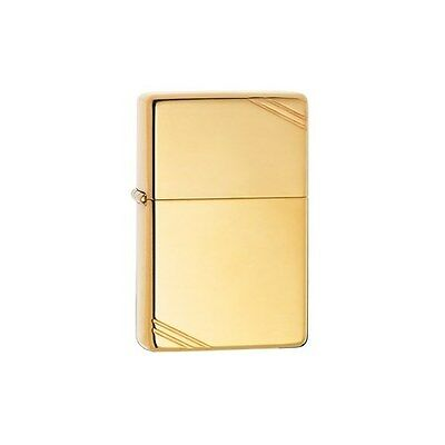 Zippo Vintage Series 1937 High Polish Brass Slashes Windproof Lighter