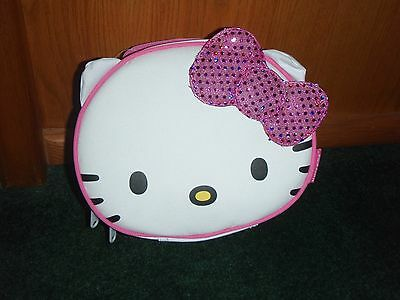 NEW Sanrio HELLO KITTY White INSULATED LUNCH BOX Back to School TOTE BAG W/HANDL