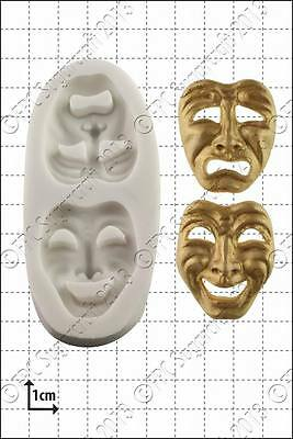 Silicone mould Comedy and Tragedy Masks | Food Use FPC FREE UK shipping!
