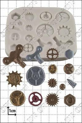 Silicone mould Steam Punk Cogs & Gears | Food Use FPC FREE UK shipping!