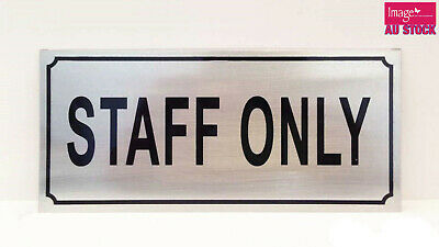 Staff Only Sign Warehouse Office Hotel Private Restaurant No Entry Sign Stick On