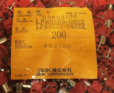 200PCS SMK RCA Audio Jack PCB Mount Red Made in Japan