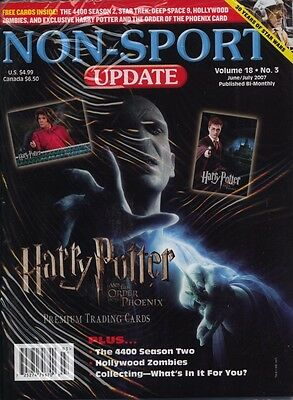 Non Sports Update Volume 18 No 3 2007 MINT Harry Potter ST DS9 4400 Promo's