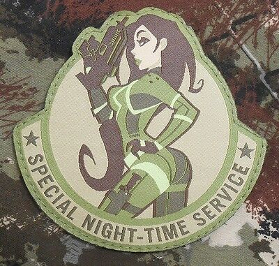 SPECIAL NIGHT-TIME SERVICE USA ARMY TACTICAL MORALE BADGE MULTICAM VELCRO PATCH