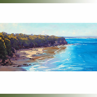 Beach paintings norah head australian seascape coastal oil on canvas by gercken