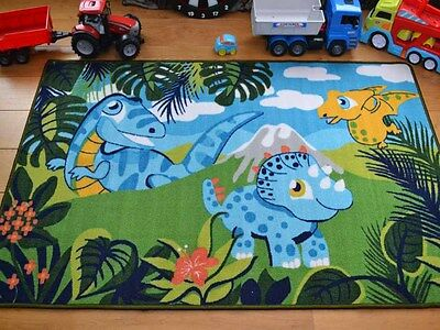 Small Large Boys Kids Dinosaur Monster Washable Non Slip Bedroom Floor Rugs Mats