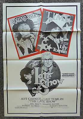 The Late Show 1977 Original 1 Sheet Movie Poster Special Rare Style Art Carney
