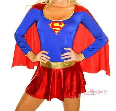 New Supergirl Adult Women Sexy Superwoman Superhero Super Girl Halloween Costume